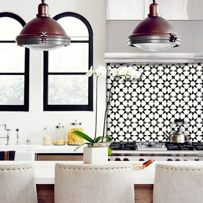 Moroccan Agadir Removable Wallpaper Black