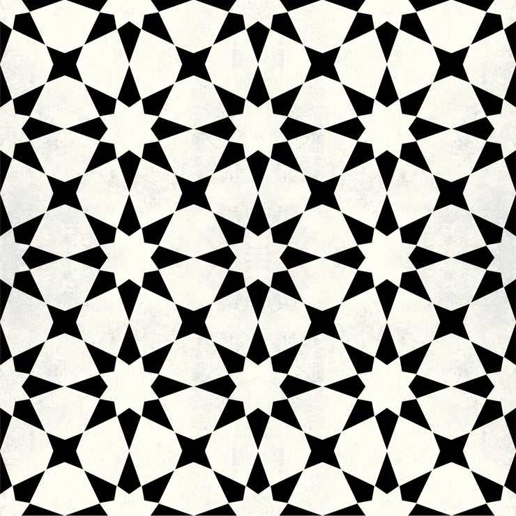 Vinyl Floor Tile Sticker - Agadir in Black