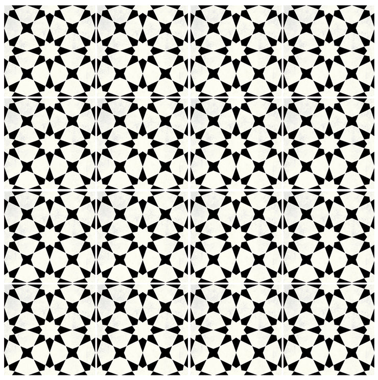 Vinyl Tile Stickers Pack for Kitchen, Bathroom & Floors in Agadir Black