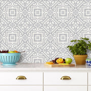 Tile Sticker Pack for Kitchen, Bathroom & Floors Alba in Chalk Grey