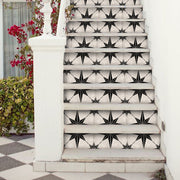 Stair Riser Stickers - Stair Riser Tile Decals - Astra in Black