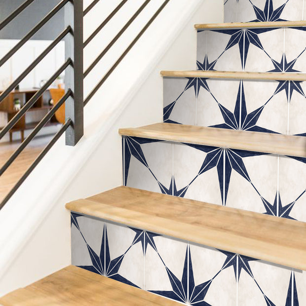 Astra in Navy Stair Riser Stickers