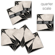 Custom Astra Black Vinyl Tile Stickers Pack - for Lucinda Allen