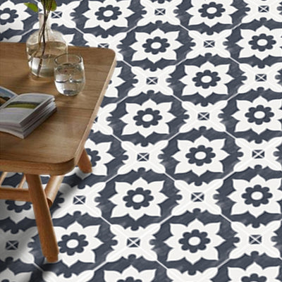 Campagne in Navy Floor Sticker