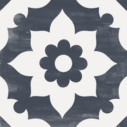 Campagne in Navy Vinyl Tile Sticker