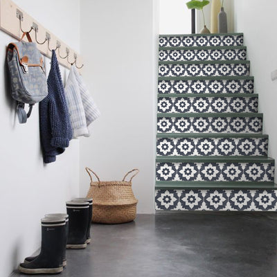 Campagne in Navy Stair Riser Stickers