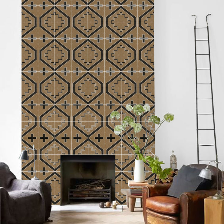 Canyon Wallpaper in Ochre