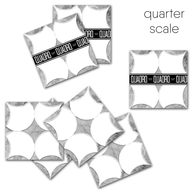 Carrera Marble Effect Tile Stickers Pack in Grey - Kitchen, Bathroom & Floors