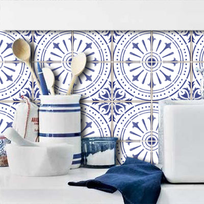 Removable Wallpaper in Italian Chiave Indigo