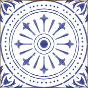 Chiave in Indigo Blue Vinyl Tile Sticker