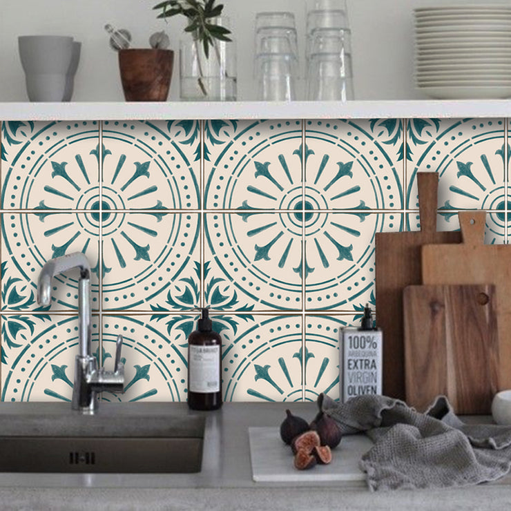 Removable Wallpaper in Italian Chiave Teal