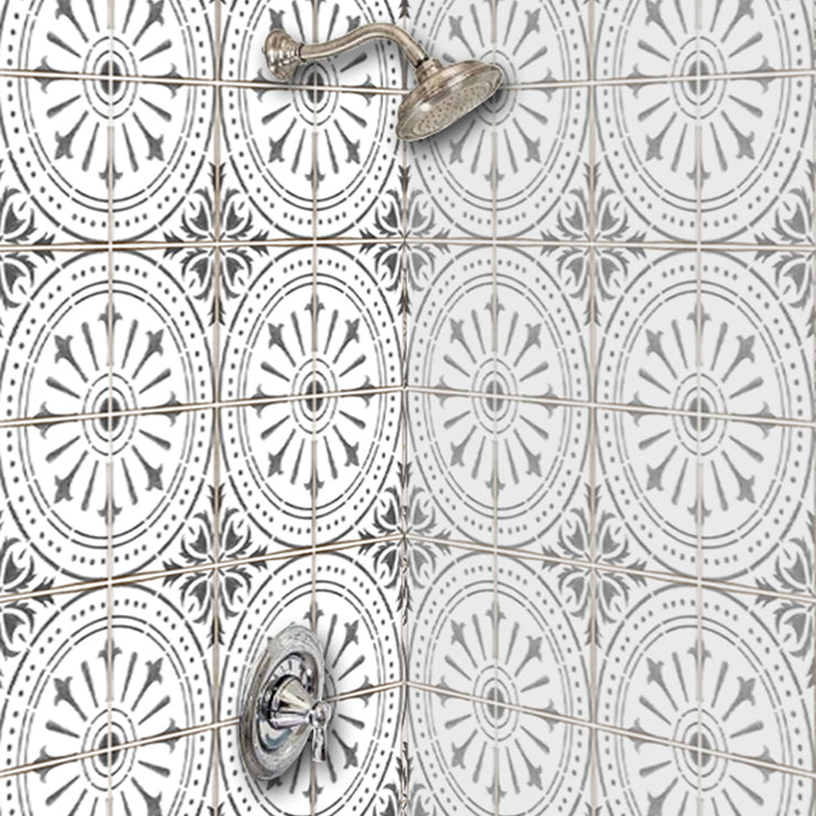 Removable Wallpaper in Grey Italian Chiave