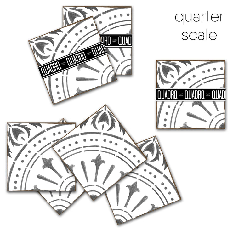 Vinyl Tile Stickers Pack in Chiave Grey for Kitchen, Bathroom & Floors