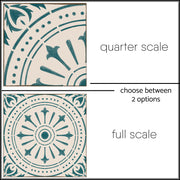 Vinyl Tile Stickers Pack in Chiave Teal for Kitchen, Bathroom & Floors