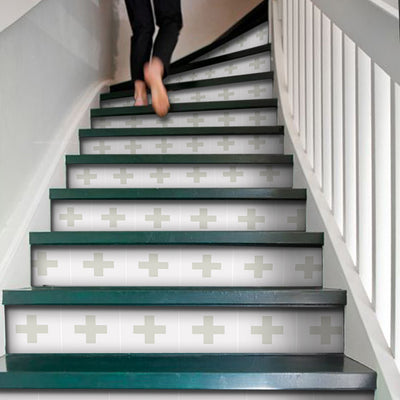 Stair Riser Stickers - Stair Riser Tile Decals - Christo