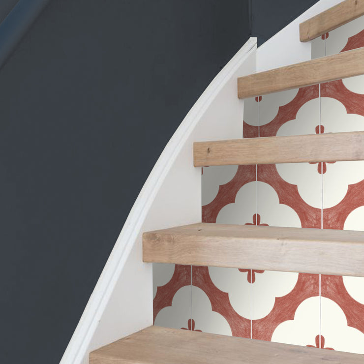 Claude in Brick Stair Riser Stickers