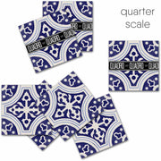 Vinyl Floor Tile Sticker - Cleft Indigo