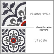 Corona Vinyl Tile Sticker Pack in Ink - Kitchen, Bathroom & Floors