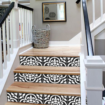 Corona in Black Stair Riser Stickers