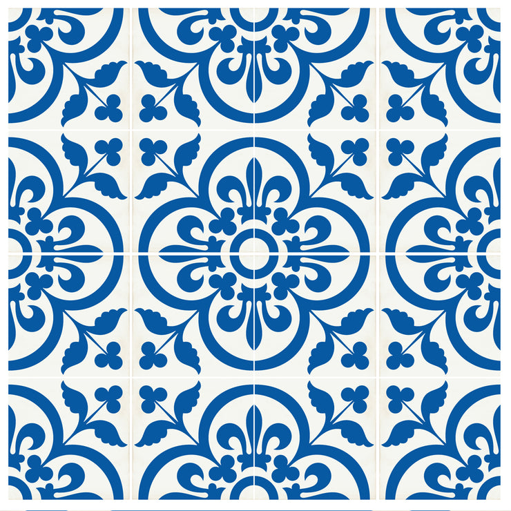 SALE! Vinyl Floor Tile Stickers Panel of 60 x 120 cm size - Corona in Princess Blue