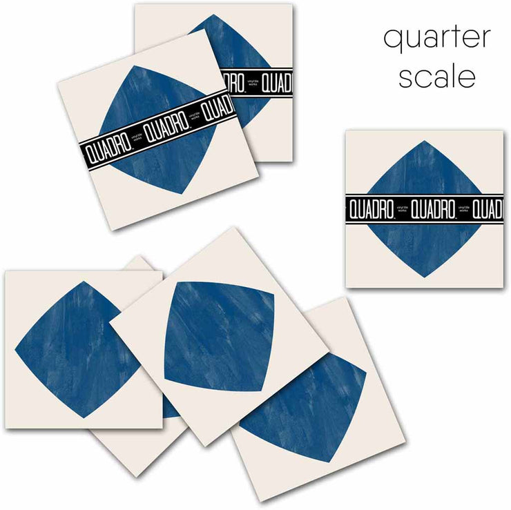 Diamond in Indigo Vinyl Tile Sticker