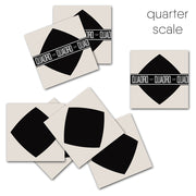 Vinyl Tile Stickers Pack for Kitchen, Bathroom & Floors in Black Diamond