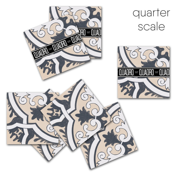 Vinyl Tile Sticker Pack for Kitchen, Bathroom & Floors in Firenze Rose