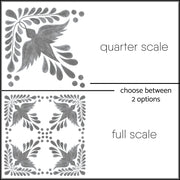 Fleur Vinyl Tile Stickers Pack in Grey - Kitchen,  Bathroom & Floors