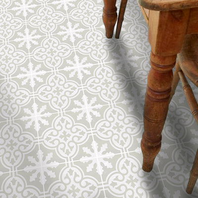 Vinyl Floor Tile Sticker - Floc Stone Birch