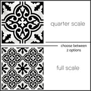 Vinyl Tile Stickers Pack for Kitchen, Bathroom & Floors in Floc Black