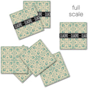 Vinyl Tile Stickers Pack in Foglio Mint for Kitchen, Bathroom & Floors
