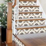 Genova in Greige Stair Riser Stickers