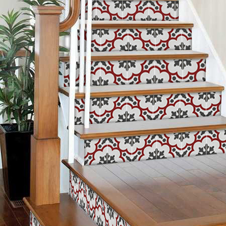 Genova in Rouge Stair Riser Stickers