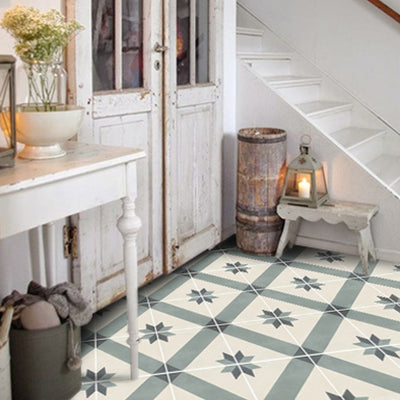 Vinyl Floor Tile Sticker - Gustavian Bone White
