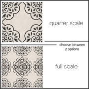 Vinyl Floor Tile Sticker - Hamra - Floor Decal, Tile Sticker