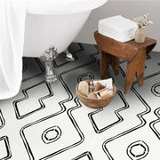 Vinyl Floor Tile Sticker - Berber Inspired Harlow in Black