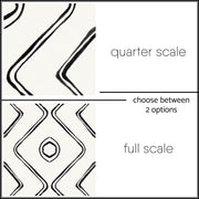 Tile Sticker Pack in Cream Black for Kitchen, Bathroom & Floor Harlow Berber in Cream