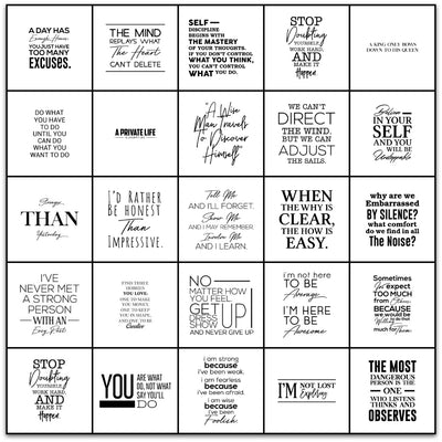 Tile Sticker Pack of 24 Inspirational Quotes