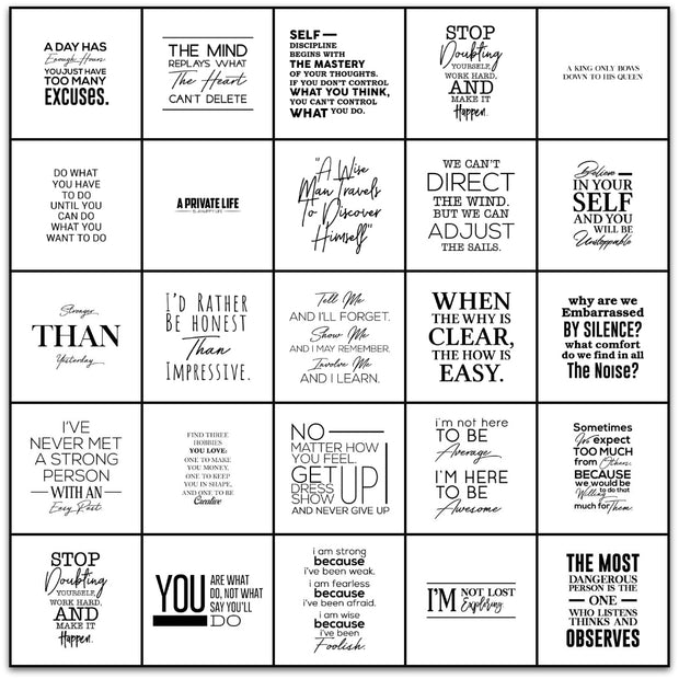 Inspirational Quotes Vinyl Tile Sticker