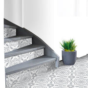 Kabbalah in Grey Stair Riser Stickers