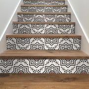 Kabbalah in Black Stair Riser Stickers