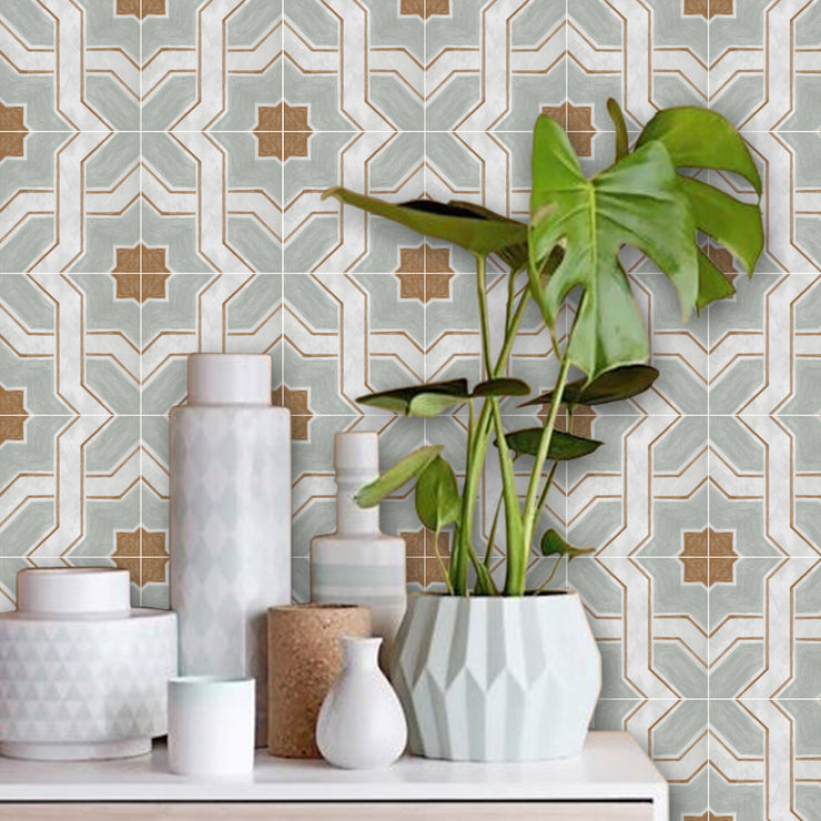 Lattice Vinyl Tile Sticker