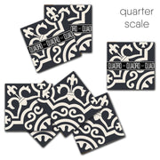 SALE! Lys Vinyl Tile Sticker Pack in Black - 24 pcs pack in 20 cm size