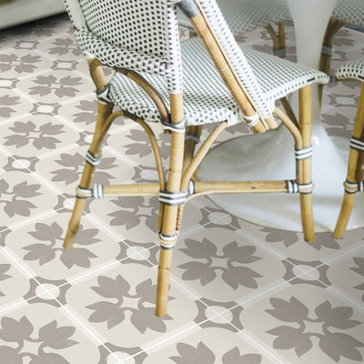 Vinyl Floor Tile Sticker - Margot Taupe