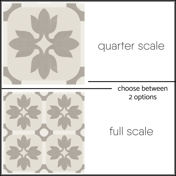 Vinyl Tile Stickers for Kitchen, Bathroom & Floors in Margot Taupe