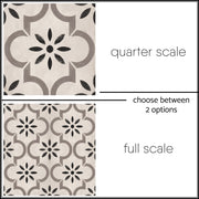 Vinyl Tile Sticker for Kitchen, Bathroom & Floors in Marta Taupe