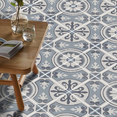 Vinyl Floor Tile Sticker - Messina Carbon