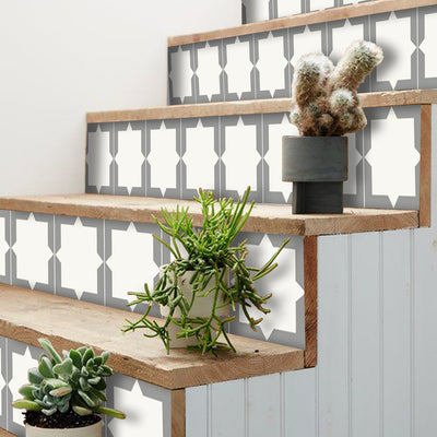 Stair Riser Stickers - Stair Riser Tile Decals - Neptune