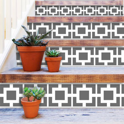 Stair Riser Stickers - Stair Riser Tile Decals - Omega