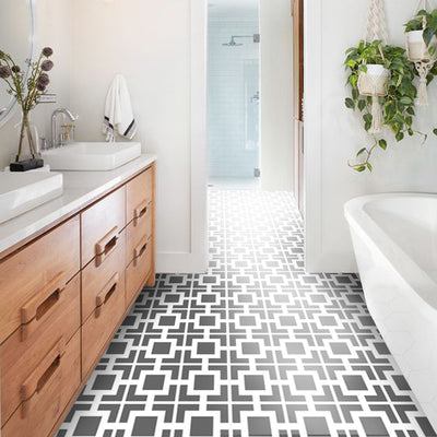 Vinyl Floor Tile Sticker - Omega